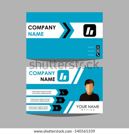 Layout Design Template Id Card Business Stock Vector Royalty Free