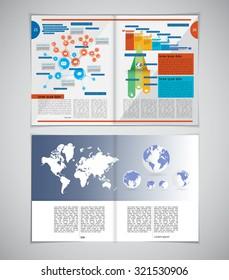 Layout magazine. Editable vector