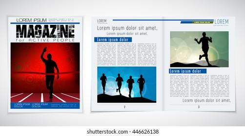 Layout magazine, vector