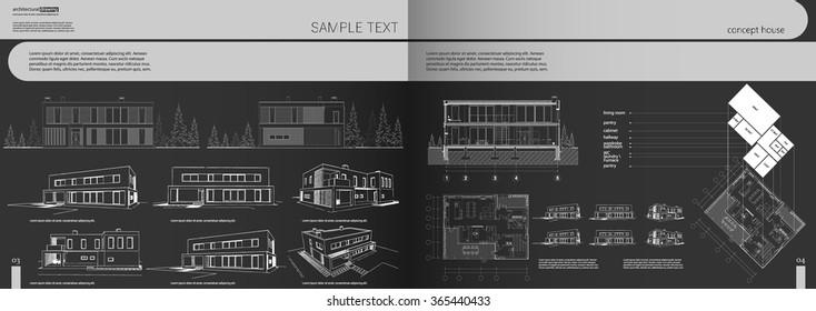 Architecture Portfolio Template Images Stock Photos