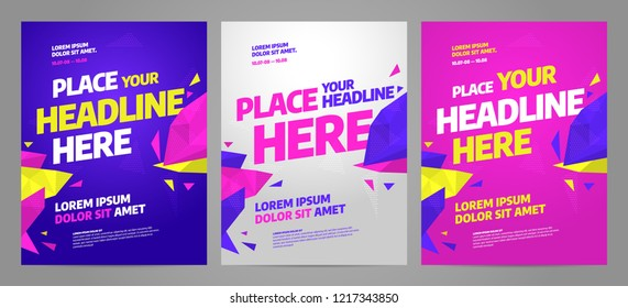 Layout poster template design for sport event, tournament or championship.