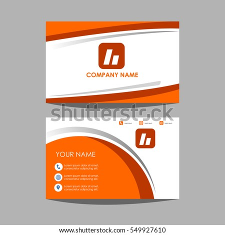 layout template id card and business card design