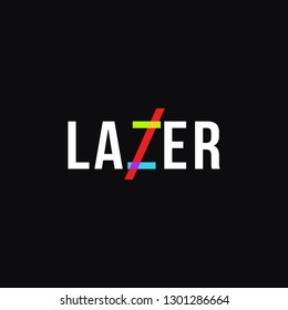 Lazer light wordmark logo icon