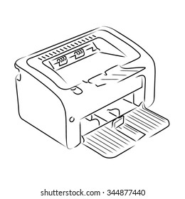 Lazer printer line illustration