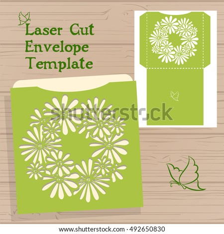 lazercut vector wedding invitation template wedding のベクター画像