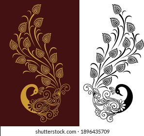lazier cut traditional Peacock design pattern.