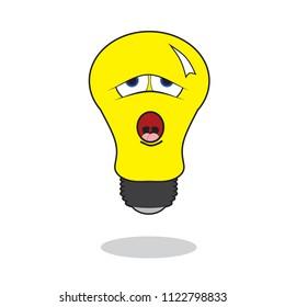 Laziness Bulb Lamp Vector