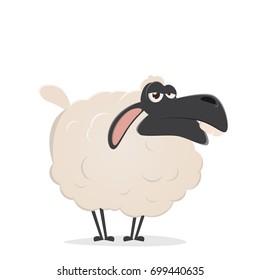 lazy cartoon sheep