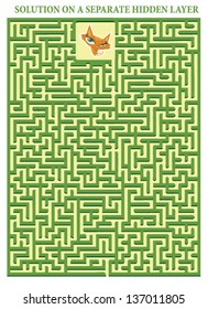 Lazy Kitty Maze Game - help lazy kitten find her way out of  the maze