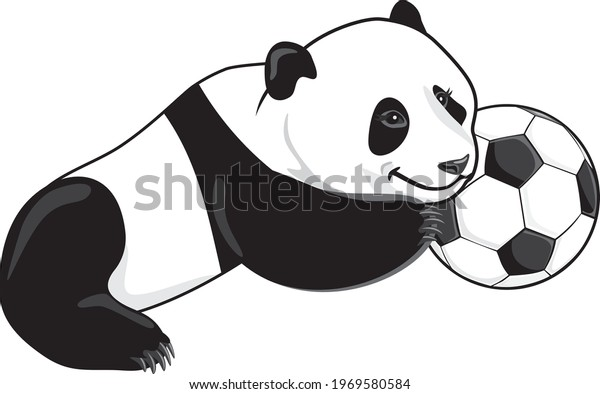 lazy-panda-soccer-ball-vector-600w-19695