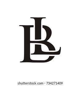 LB or BL logo initial letter design template vector