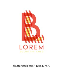 LB colorful logo design with pink orange and gray color that can be used for creative business and advertising. BL logo is filled with bubbles and dots, can be used for all areas of the company