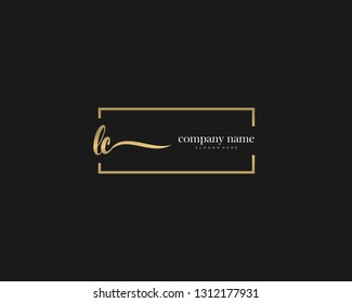 LC Initial handwriting logo vector. Hand lettering for designs.