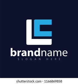 LC Initial letter logo vector