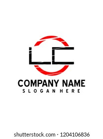 LC Initial logo with circle template vector