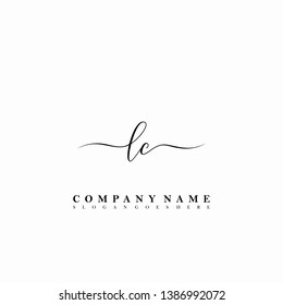 LC Initial luxury handwriting logo vector