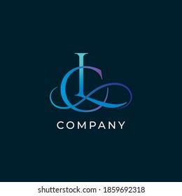 L,C letters vector monogram. L,C letters logo. LC letters emblem