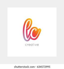LC logo, vector. Useful as branding, app icon, alphabet combination, clip-art.