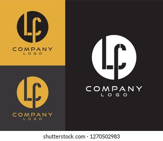 lc/cl initial logo design letter with circle shape
