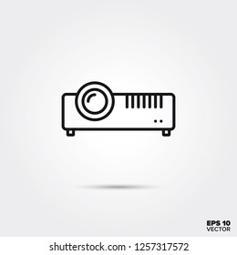 LCD projector line icon vector illustration. Media and entertainment symbol.