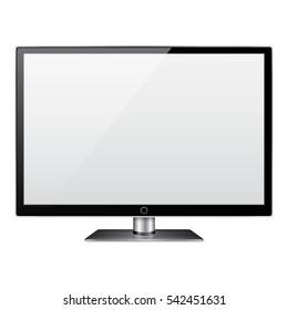 Lcd tv monitor. Flat screen tv lcd. Vector illustration.
