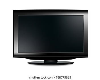 lcd tv realistic vector illustration