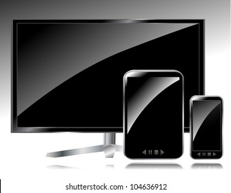 Lcd tv, smartphone and tablet PC