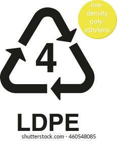 LDPE low-density polyethylene recycling code