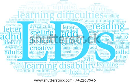 Lds Word Cloud On A White Background