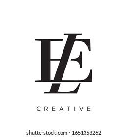 le or el logo design vector icon symbol