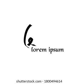 Le Initial handwriting logo vector