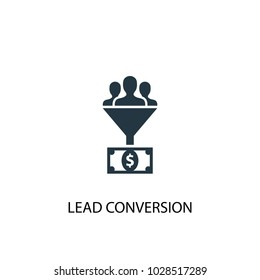 Lead conversion icon. Simple element illustration. Lead conversion symbol design from Social Media Marketing collection. Can be used in web and mobile.