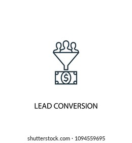 Lead conversion line icon. Simple element illustration. Lead conversion symbol design from Social Media Marketing collection. Can be used in web and mobile.