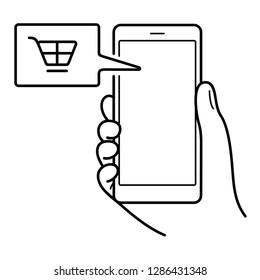 Lead generation. Initiation of consumer interest to product or service of a business. Using different channels of communication to potential clients. Vector outline icon isolated on white background.