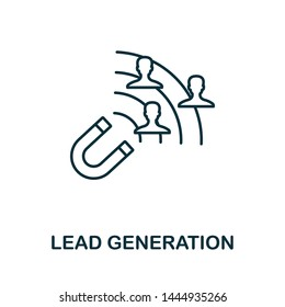 Lead Generation outline icon. Thin line concept element from content icons collection. Creative Lead Generation icon for mobile apps and web usage.