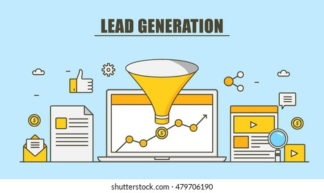 Lead generation, Sales funnel, marketing process for generating business leads