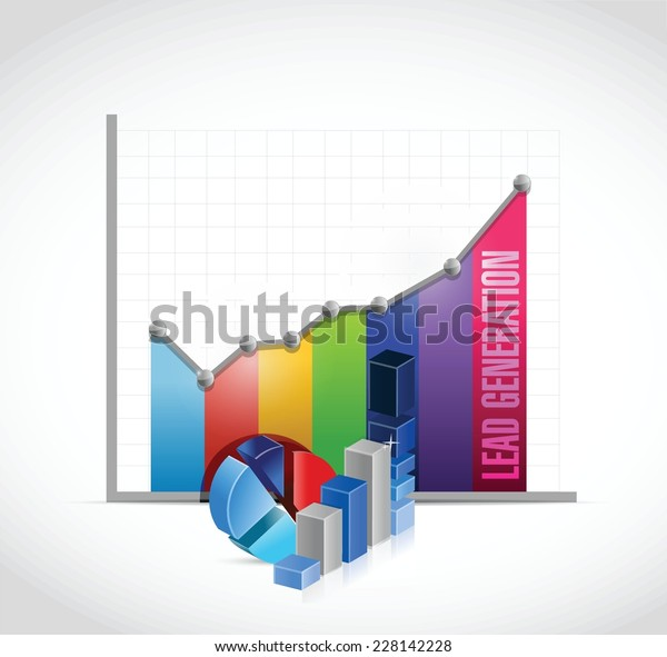 Lead Generator Business Graph Chart Stock Vector Royalty Free 228142228