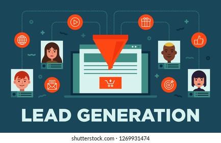 Lead management, lead generation, conversion online sales optimization