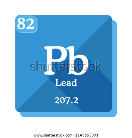Lead Pb Element Periodic Table Flat Stock Vector Royalty Free