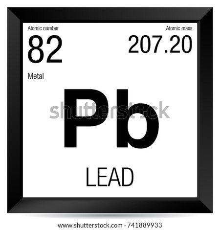 Lead symbol element number 82 periodic stock vector royalty free lead symbol element number 82 of the periodic table of the elements chemistry urtaz