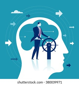 Leader. Business concept illustration