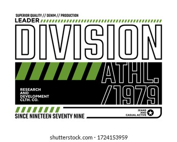 Leader division stylish typography slogan for t-shirt.  Abstract design with the lines style. Vector print, typography, poster. Global swatches.