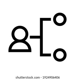 leader icon or logo isolated sign symbol vector illustration - high quality black style vector icons