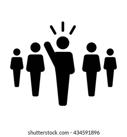 Leader Icon - Vector illustration