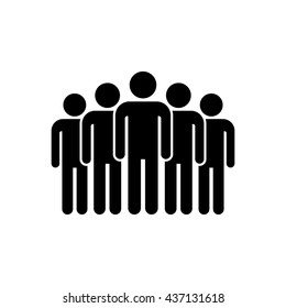 Leader pictogram. Team mans vector icon. Five people.