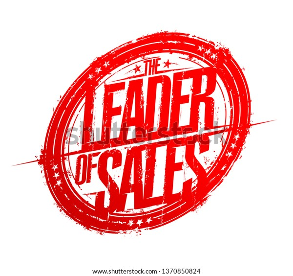 Leader Sales Rubber Stamp Imprint Vector Stock Vector