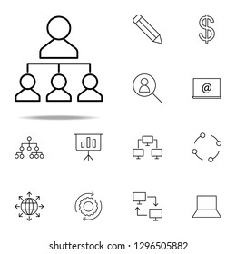 leader workers icon. business icons universal set for web and mobile
