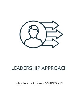 Leadership Approach outline icon. Thin line concept element from risk management icons collection. Creative Leadership Approach icon for mobile apps and web usage.