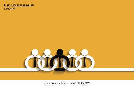 Leadership chain concept, vector