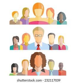 leadership concept, business teamwork